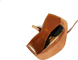 Aaron Leather Sunglasses Case Old English Style