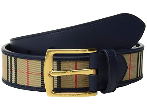 Burberry Gray 35 1983 Check Belt