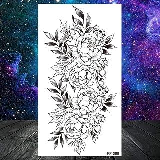 Zwart Woord Tijdelijke Tattoo Kids Vrouwen Vrouwen Kleine Letter Tattoo Minimalistische Karakter Sticker Waterdichte Body ...