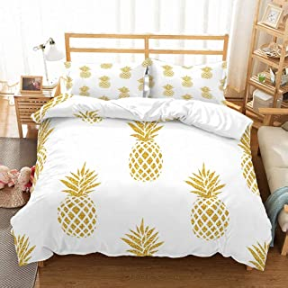 Best white and gold pineapple comforter Reviews
