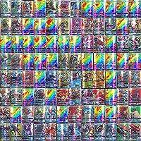 Poke Cards, 100 stuks Poke Card Set met 20 GX Trading Cards + 20 Mega Poke Kaarten + 59 EX Poke Kaarten + 1 Poke Energy...