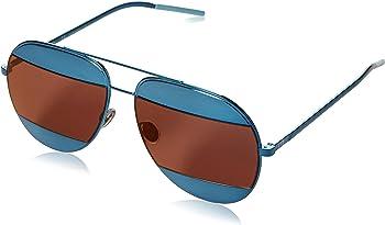 Christian Dior Blue Brown Mirror Aviator Unisex Sunglasses