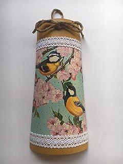 teja decorativa con adorno de pájaros y flores