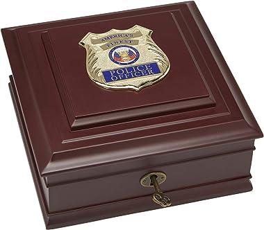 Allied Frame US Police Officer Medallion Desktop Box