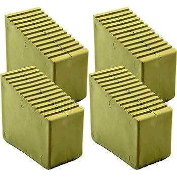 Pies de goma para escaleras de madera, 2 unidades 3 – 8 travesaños Tamaño interior 56 x 23 mm color arena HB40: Amazon.es: Bricolaje y herramientas
