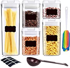 Air-Tight Container Set - Pantry Durable Seal Pot - Cereal Storage Containers - BPA Free - Clear Containers 5 Sets