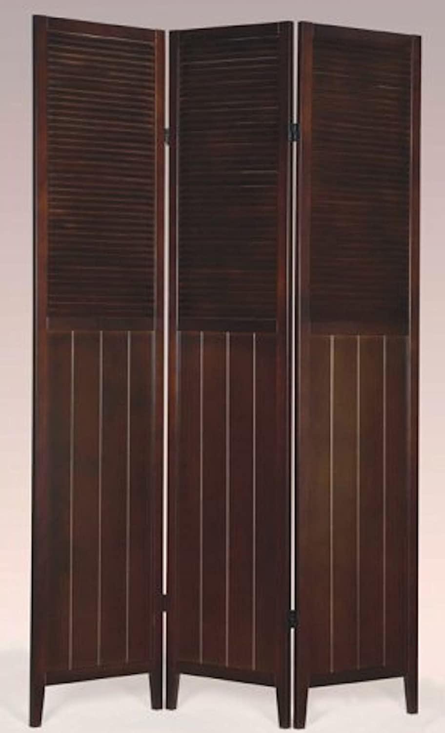Legacy Decor 3 Panel Solid Wood Divider Award-winning store Shutter Espr Daily bargain sale Screen Room