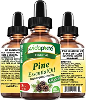 PINE ESSENTIAL OIL 100% PURE Natural Undiluted THERAPEUTIC GRADE ESSENTIAL OIL 2 Fl.oz.- 60 ml for Aromatherapy, Soaps, Ca...