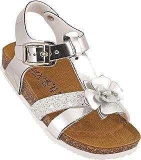 012-346 Biochic Girls Sandals Metallic Silver