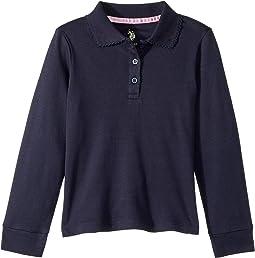 Long Sleeve Polo (Little Kids)