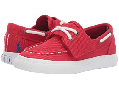 Polo Ralph Lauren Kids Bridgeport EZ (Toddler) (Red Heavy Twill/Blue Pony) Boy