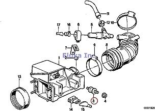 BMW Genuine Fuel Injection Intake Manifold Intake Muffler Rubber Mounting 528e 318i 325e 325i 325ix M3 M5 3.6