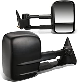 Best Pair Black Manual Telescoping Folding Rear View Towing Mirrors Replacement for Chevy/GMC Silverado Sierra GMT800 99-07 Reviews