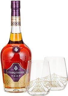 Courvoisier VSOP mit Geschenkverpackung mit 2 Tumbler Cognac 1 x 0.7 l