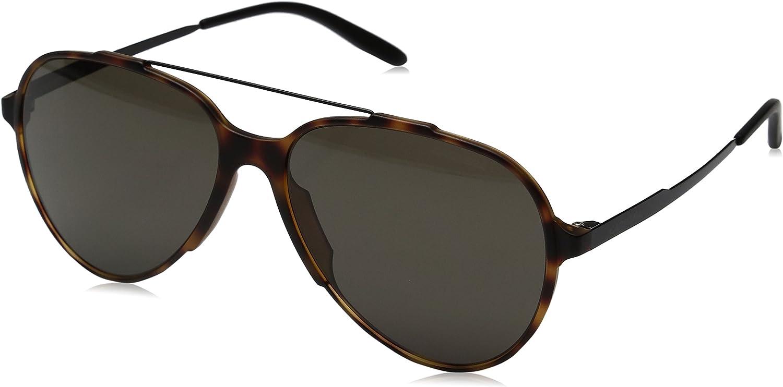 Carrera CA118/S Square Sunglasses, Light Havana/Blue, 57 mm