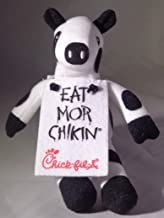 "Chick-fil-a Bean Bag Plush Cow ""Eat Mor Chikin"" 6"""