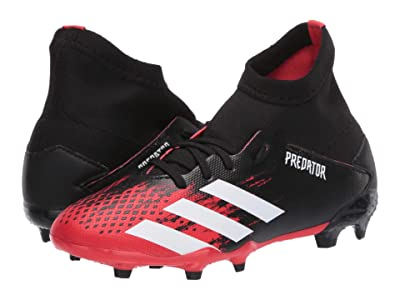 adidas Kids Predator 20.3 FG J Soccer (Little Kid/Big Kid) (Black/White/Active Red) Kids Shoes