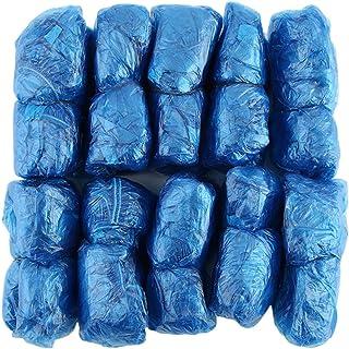 itYukiko 100 pezzi/set copriscarpe in plastica usa e getta per ambienti esterni pioggia impermeabile