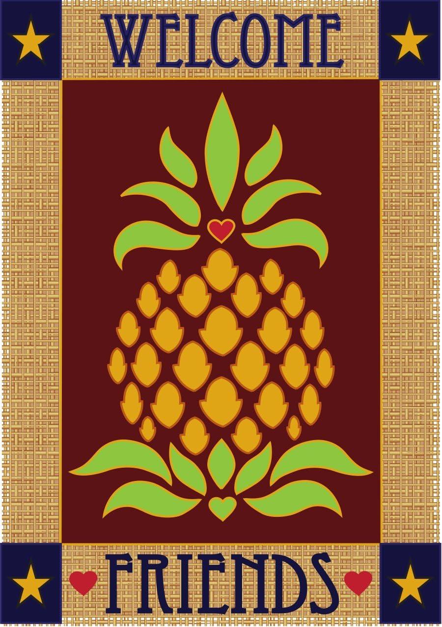 Magnolia Garden shop Welcome Friends Primitive Rect x Price reduction 42 Pineapple 29
