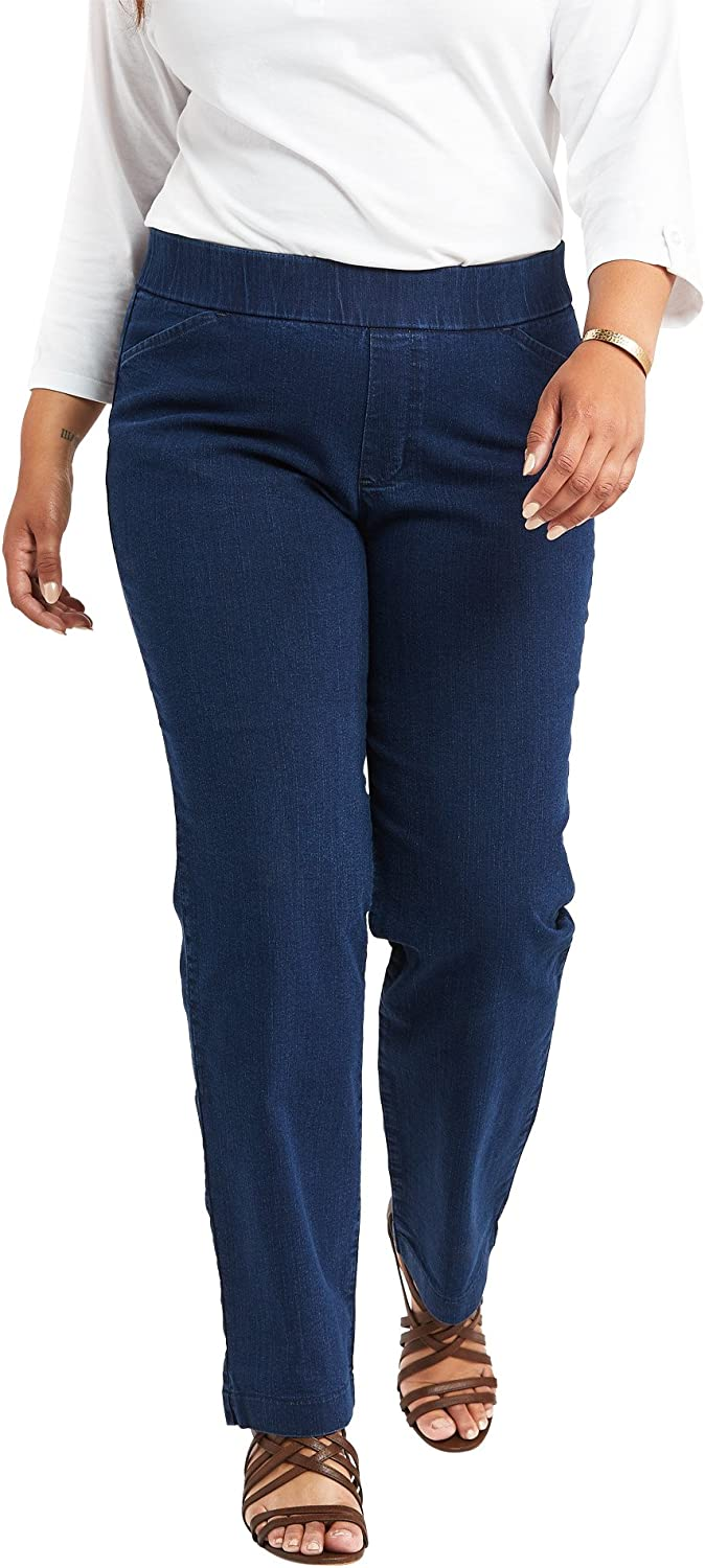 Chic Classic Collection Women's Easy Fit Elastic Waist Jean