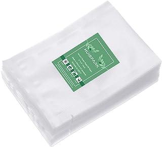 "Huispark 真空パック 袋, 真空シールポケット、4 x 6インチ食品収納袋、商業用食品収納袋、Sous Videプレカットデザイン(4""x 6"" 100個)"
