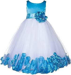 ekidsbridal Floral Rose Petals Tulle Flower Girl Dress Ball Gown Dress 167S