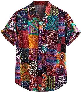 Men's Hawaiian Shirt Printed Pattern Short Sleeve Hawaiian Style Short Sleeve Shirt Beach Patterned Grandad Shirt Shirts