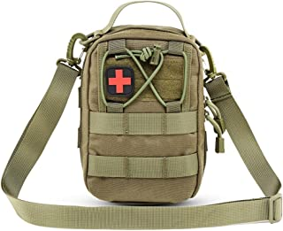 DYJ EMT Pouch MOLLE Ifak Pouch Compact Tactical MOLLE Medical First Aid Kit Utility Pouch