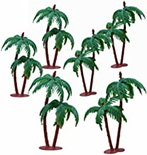 Asian Hobby Crafts Artificial Mini Tree for Project Making - Coconut Without Glitter (6 Pieces)