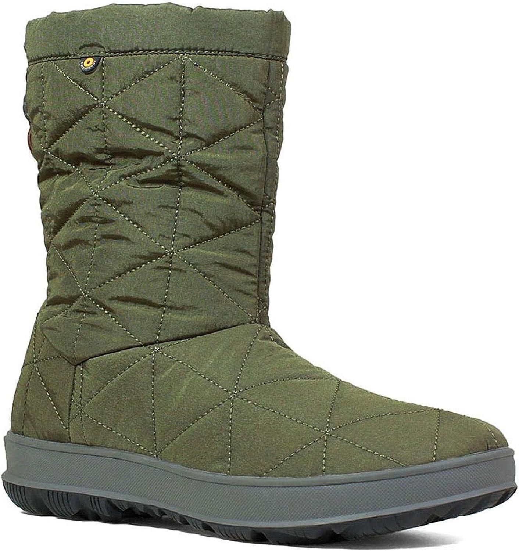 Bogs Women's Green Snowday Waterproof Winter Boot Round Toe Dark Green 9 M