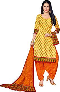 FashionRiti Women's Cotton Printed Straight Stitched Salwar Suit Set (R-5565)