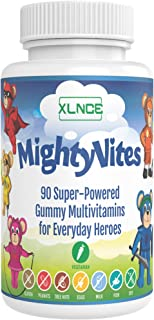 MightyVites Children's Gummy Multivitamins: Extra Strength Vitamin A, B6, B12, C, D3, Biotin. Vegetarian, Vegan, Kosher & Halal, Made in The USA for Kids, Toddlers & Teens. 90 Count (30 Day Supply)