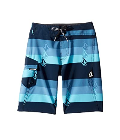 Volcom Kids Lido Liney Mod Boardshorts (Big Kids) (Vintage Blue) Boy