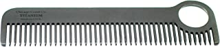 Chicago Comb Model 1 Black Titanium, Made in USA, Patented Design, Ultra-Smooth, Strong, Light, Anti-Static, 5.5 in. (14 cm) Long, Medium Tines, Ultimate Daily Use, Pocket, Travel Comb