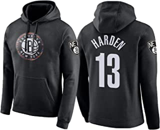 HTQ Sweat /À Capuche /À Manches Longues De Basket-Ball Pull /À Capuche Brooklyn Nets Sweat /À Capuche Pur Coton S-XXXL