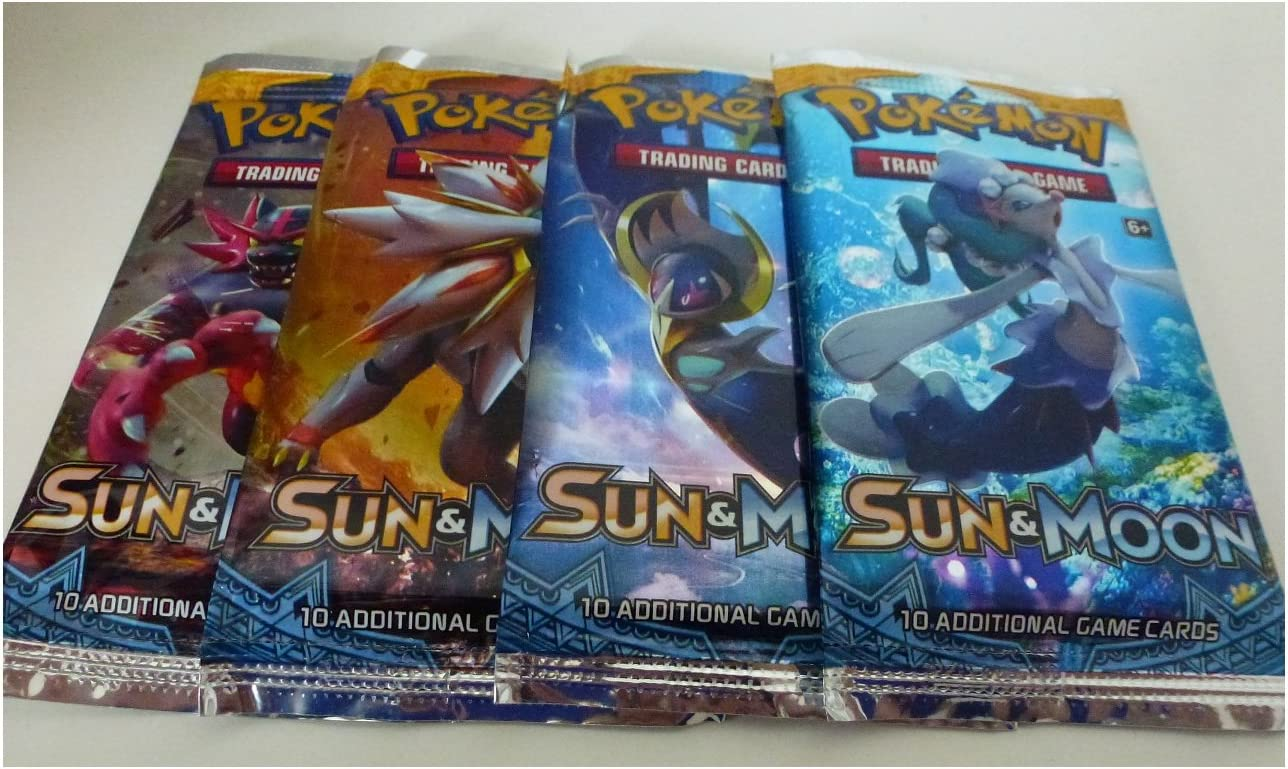Amazon.com: Pokemon TCG: Sun & Moon Booster Pack Collection Moon (4 Pack):  Toys & Games