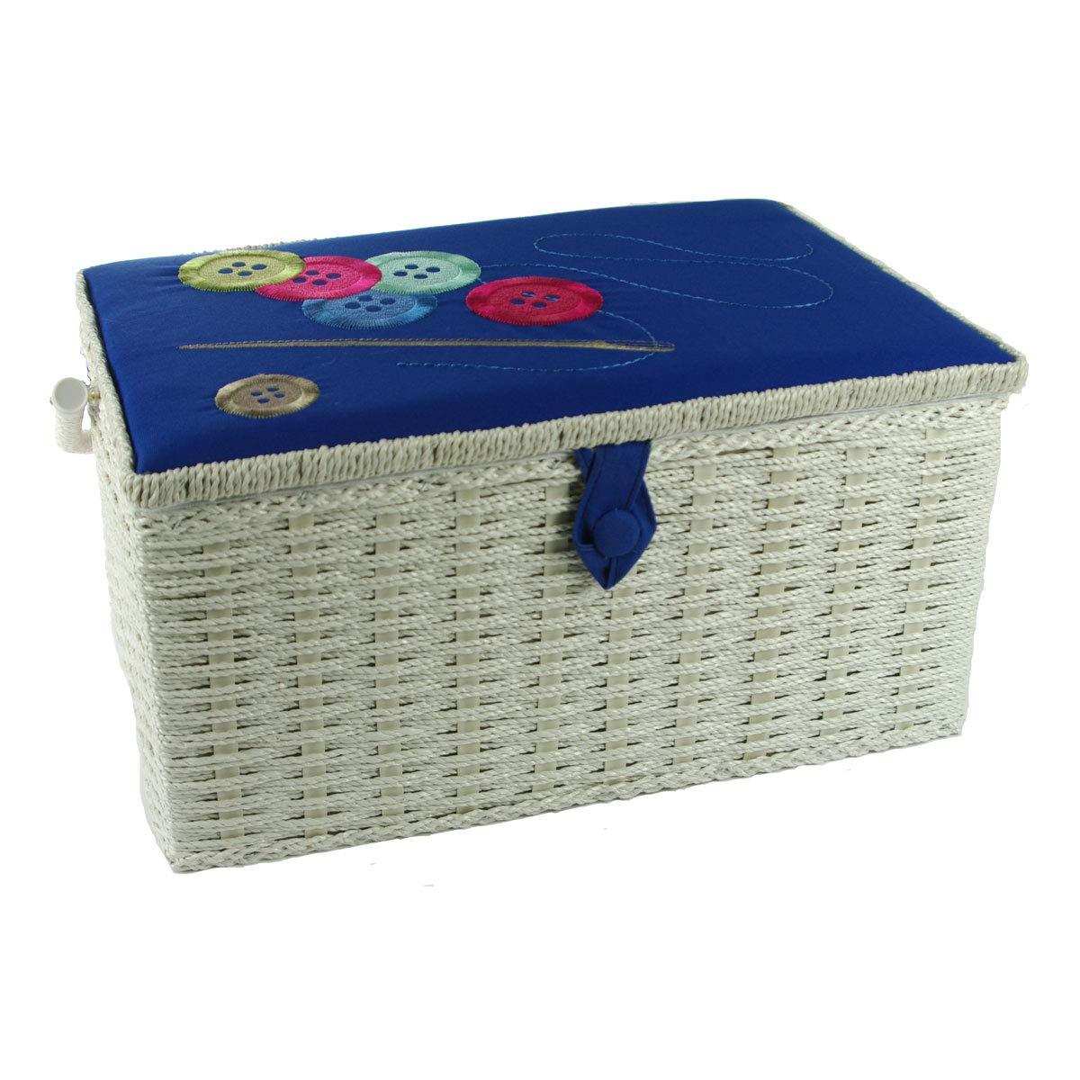 Botones De Hilo De Aguja Azul Bordado Gran Caja De Costura Sewing Online FL-012: Amazon.es: Hogar