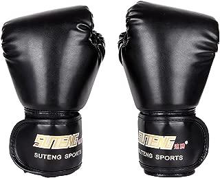 Handfly Guantes de Combate Sanda con dise/ño de Parte Superior Blanca Guantes de Boxeo de Poliuretano para Equipo de Entrenamiento de MMA