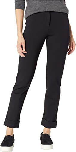 Zip Front Pants with Cuff