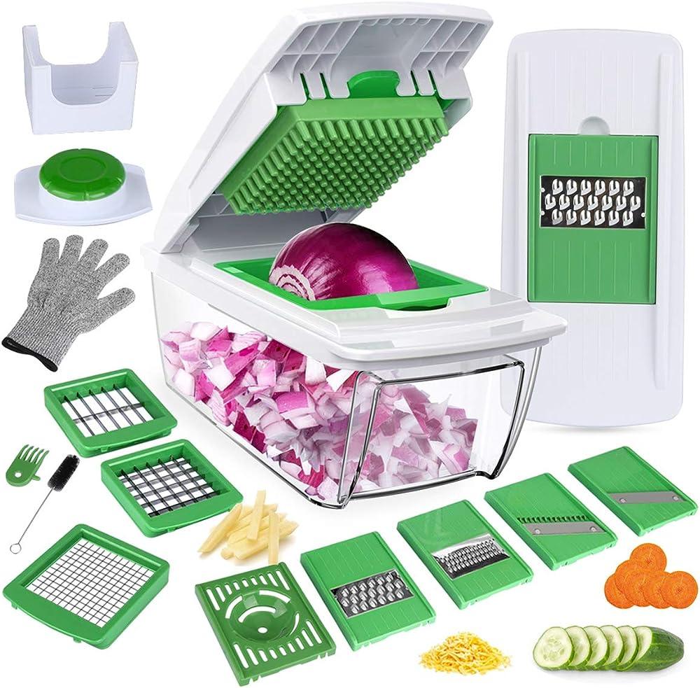 laluztop taglia verdure tutto in 1 8-lame affetta verdure in acciaio inox abs