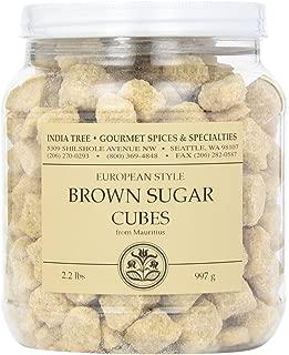India Tree Brown European-Style Sugar Cubes, 2.2 Pound