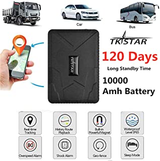 Tkstar GPS Tracker, Real Time Vehicles Tracking Device 10000mah Long Time Standy,Anti Theft GPS Locator With Magnetic For Car Truck Management TK915