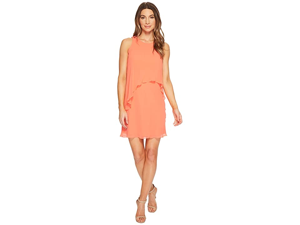 LAUREN Ralph Lauren Petite Lonia Georgette Dress (Calla Lily) Women