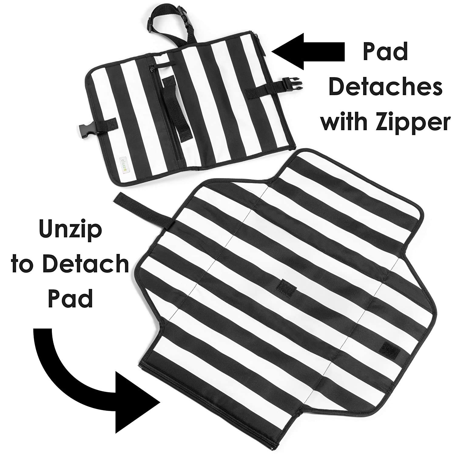 Dreamtown Kids Portable Waterproof Baby Diaper Changing Pad/Clutch for Travel. Changing Station On The Go for Active & Stylish Moms. Unisex