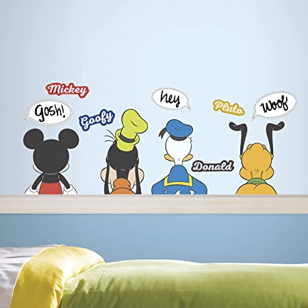 Mickey and Friends Peel and Stick Wall Stickers Appliques Decals SEALED NEW