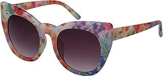 Retro Inspired Bold Cat Eye Sunglasses with Gradient Lens 32039P-AP