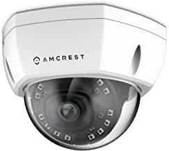 Amcrest UltraHD Outdoor 4-Megapixel Vandal Dome IP Security PoE Camera - MicroSD Storage, IP67 Weatherproof, IK10 Vandal-Proof, 4MP (2688 TVL), IP4M-1028E (White)