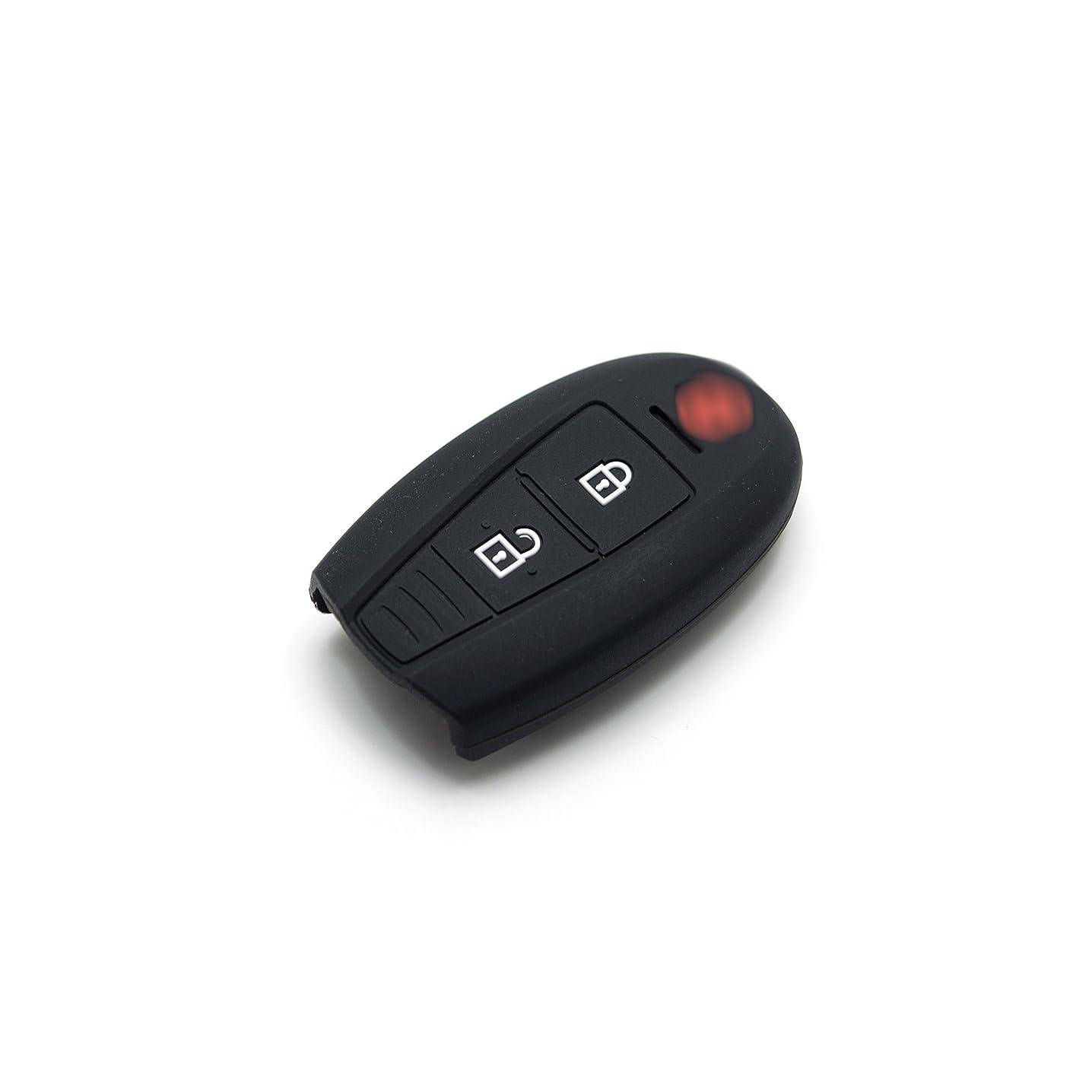 Suzuki Silicone Protecting Remote Key Case Cover Fob Holder for Suzuki New Swift Zdi 2014, Ciaz (Black)
