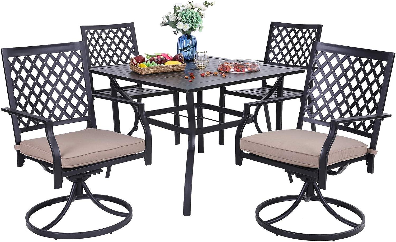 PHI VILLA 海外 5-Piece Outdoor Dining Set 37
