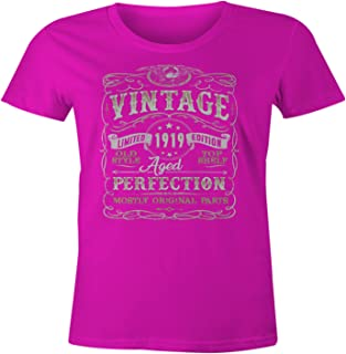 100th Birthday Gift Vintage Aged 100 Years Perfection Born in 1919 T-Shirt
